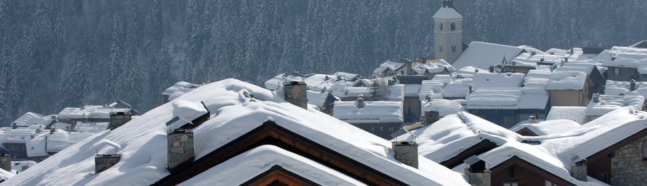 Meribel Les allues sous la neige